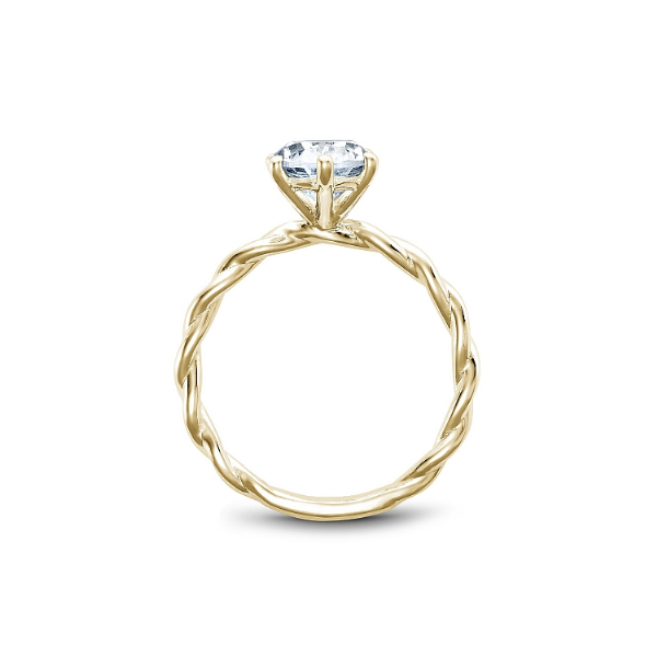 Noam Carver 14K Yellow Gold Engagement Ring, Size 6.5 Image 2 SVS Fine Jewelry Oceanside, NY