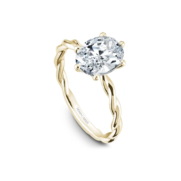 Noam Carver 14K Yellow Gold Engagement Ring, Size 6.5 Image 3 SVS Fine Jewelry Oceanside, NY
