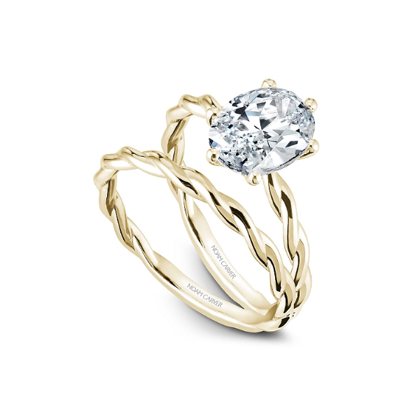Noam Carver 14K Yellow Gold Engagement Ring, Size 6.5 Image 4 SVS Fine Jewelry Oceanside, NY