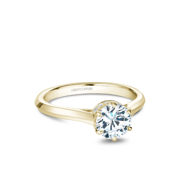 Noam Carver 14K Yellow Gold & Diamond Engagement Ring SVS Fine Jewelry Oceanside, NY