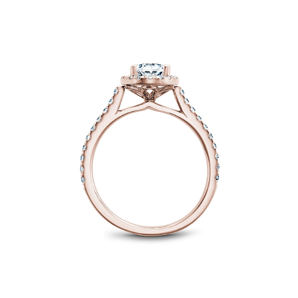 Noam Carver 14K Rose Gold & Diamond Engagement Ring Image 2 SVS Fine Jewelry Oceanside, NY