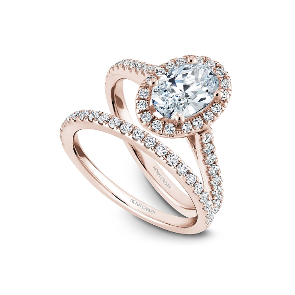 Noam Carver 14K Rose Gold & Diamond Engagement Ring Image 4 SVS Fine Jewelry Oceanside, NY
