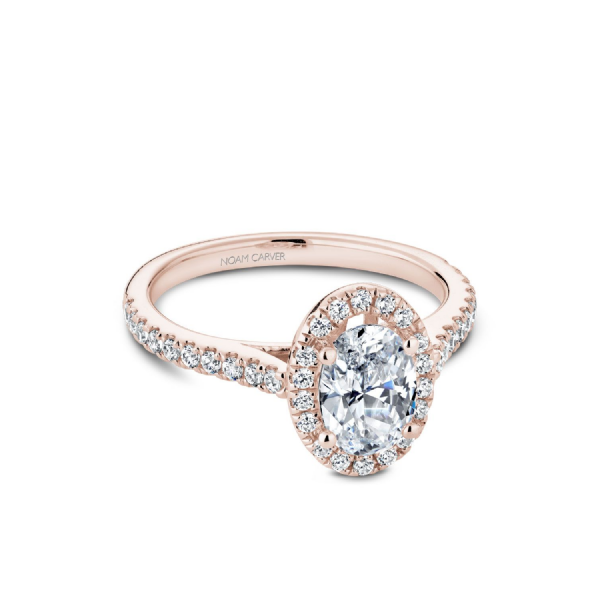 Noam Carver 14K Rose Gold & Diamond Engagement Ring SVS Fine Jewelry Oceanside, NY