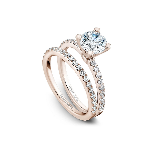 Noam Carver 14K Rose Gold & Diamond Engagement Ring Image 3 SVS Fine Jewelry Oceanside, NY