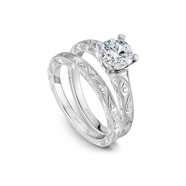 Noam Carver 14K White Gold Engagement Ring, Size 6.5 Image 3 SVS Fine Jewelry Oceanside, NY