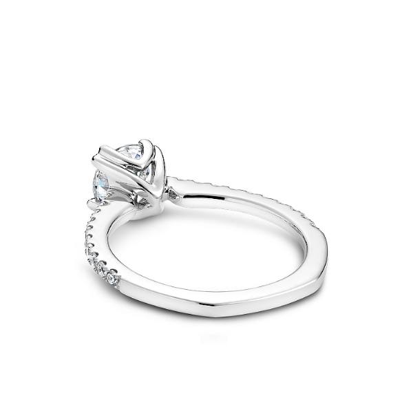 Noam Carver 14K White Gold & Diamond Engagement Ring Image 2 SVS Fine Jewelry Oceanside, NY