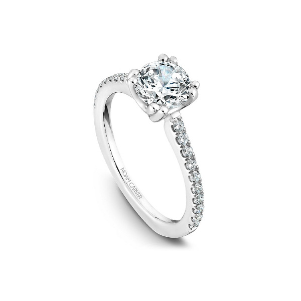 Noam Carver 14K White Gold & Diamond Engagement Ring Image 3 SVS Fine Jewelry Oceanside, NY