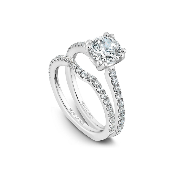 Noam Carver 14K White Gold & Diamond Engagement Ring Image 4 SVS Fine Jewelry Oceanside, NY