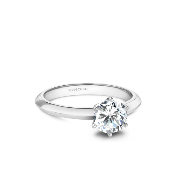 Noam Carver 14K White Gold Engagement Ring, Size 6.5 SVS Fine Jewelry Oceanside, NY