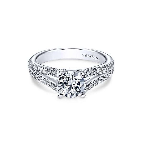 Gabriel & Co. Janelle 14K White Gold Engagement Ring SVS Fine Jewelry Oceanside, NY