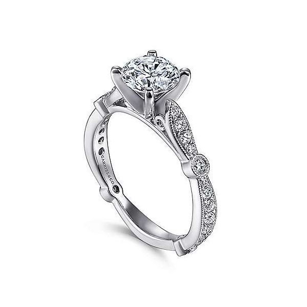 Gabriel & Co. Mabel 14K White Gold Engagement Ring Image 2 SVS Fine Jewelry Oceanside, NY