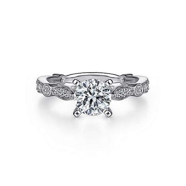 Gabriel & Co. Mabel 14K White Gold Engagement Ring SVS Fine Jewelry Oceanside, NY