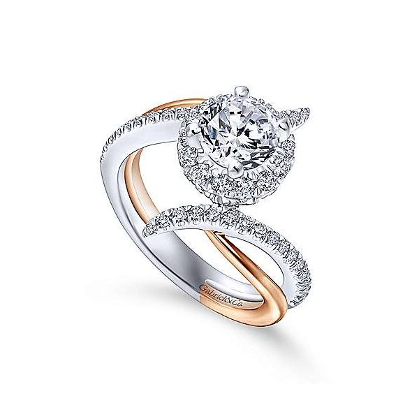 Gabriel & Co. Andromeda Gold Engagement Ring Image 2 SVS Fine Jewelry Oceanside, NY