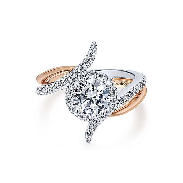 Gabriel & Co. Andromeda Gold Engagement Ring SVS Fine Jewelry Oceanside, NY