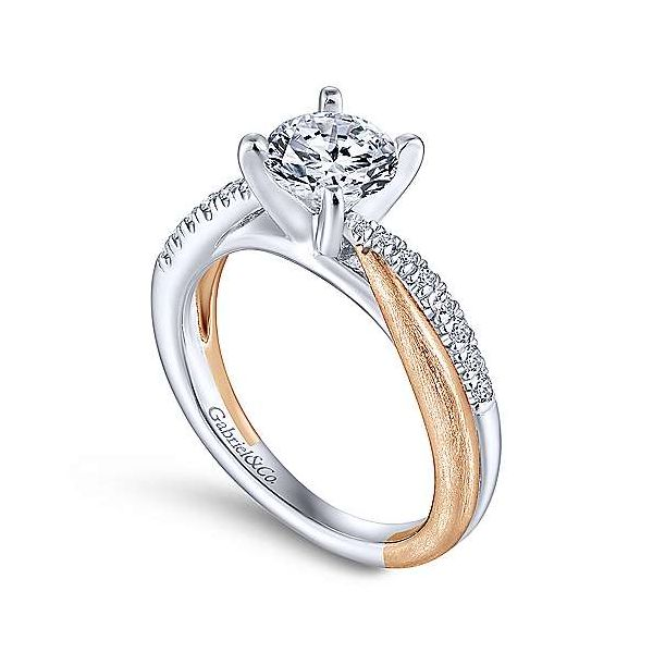 Gabriel & Co. Kendall Gold Engagement Ring Image 2 SVS Fine Jewelry Oceanside, NY