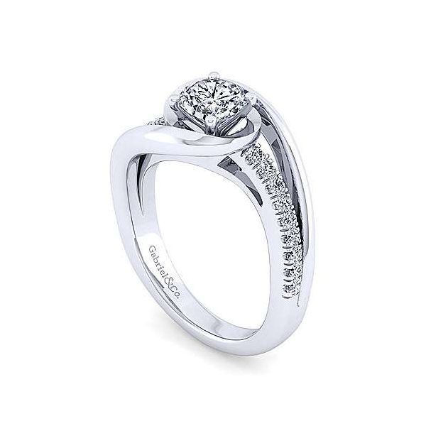 Gabriel & Co. Lucca 14K White Gold Engagement Ring Image 2 SVS Fine Jewelry Oceanside, NY
