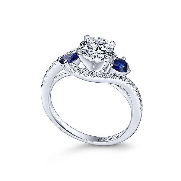 Gabriel & Co. Demi 14K White Gold Engagement Ring Image 2 SVS Fine Jewelry Oceanside, NY
