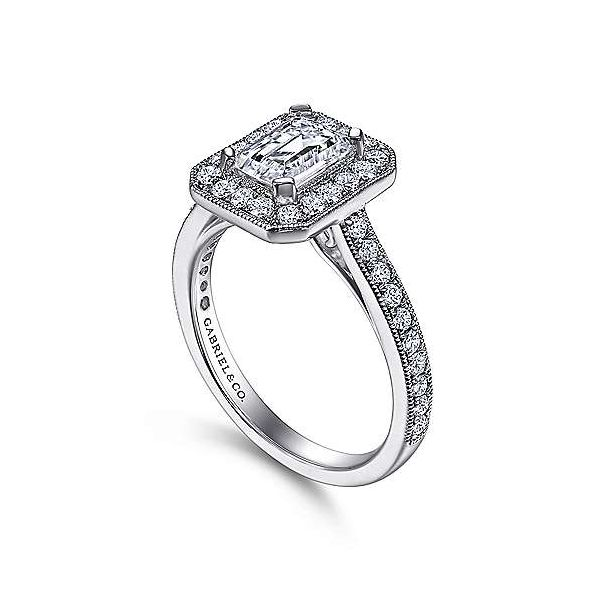 Gabriel & Co. Corinne 14K White Gold Engagement Ring Image 2 SVS Fine Jewelry Oceanside, NY