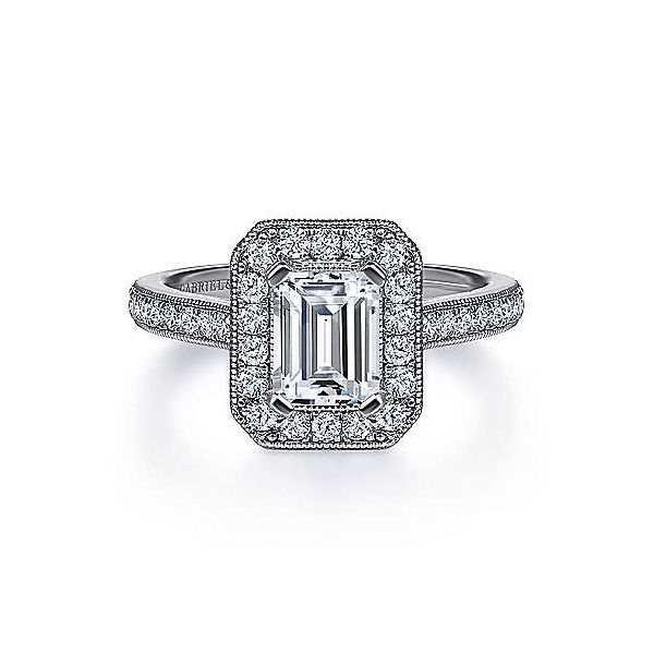 Gabriel & Co. Corinne 14K White Gold Engagement Ring SVS Fine Jewelry Oceanside, NY