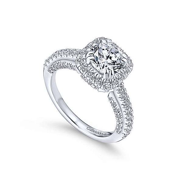 Gabriel & Co. Milan 14K White Gold Engagement Ring Image 2 SVS Fine Jewelry Oceanside, NY