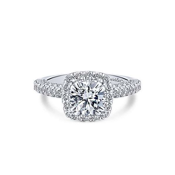 Gabriel & Co. Milan 14K White Gold Engagement Ring SVS Fine Jewelry Oceanside, NY