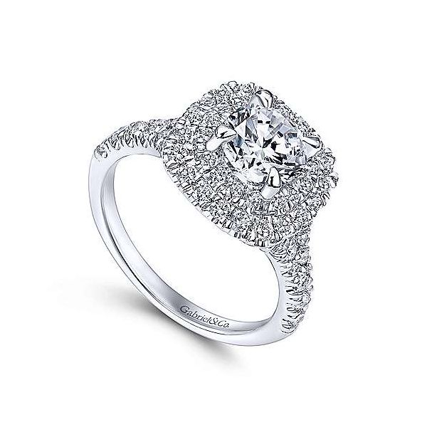 Gabriel & Co. Lexie 14K White Gold Engagement Ring Image 2 SVS Fine Jewelry Oceanside, NY