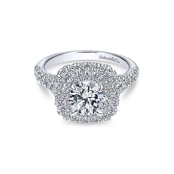 Gabriel & Co. Lexie 14K White Gold Engagement Ring SVS Fine Jewelry Oceanside, NY