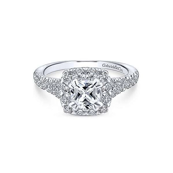 Gabriel & Co. Eliana Gold Engagement Ring SVS Fine Jewelry Oceanside, NY