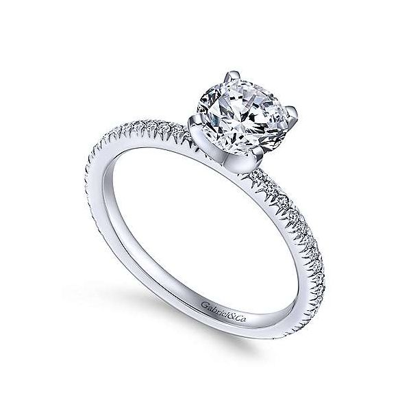 Gabriel & Co. Oyin 14K White Gold Engagement Ring Image 2 SVS Fine Jewelry Oceanside, NY