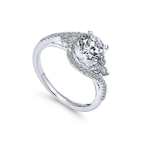Gabriel & Co. Izzie 14K White Gold Engagement Ring Image 2 SVS Fine Jewelry Oceanside, NY
