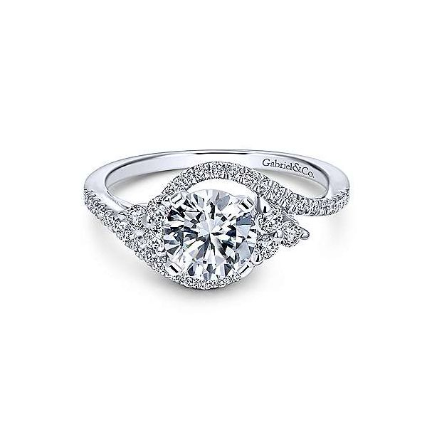 Gabriel & Co. Izzie 14K White Gold Engagement Ring SVS Fine Jewelry Oceanside, NY