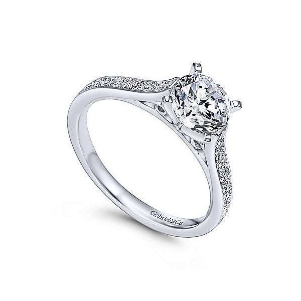 Gabriel & Co. Krista 14K White Gold Engagement Ring Image 2 SVS Fine Jewelry Oceanside, NY