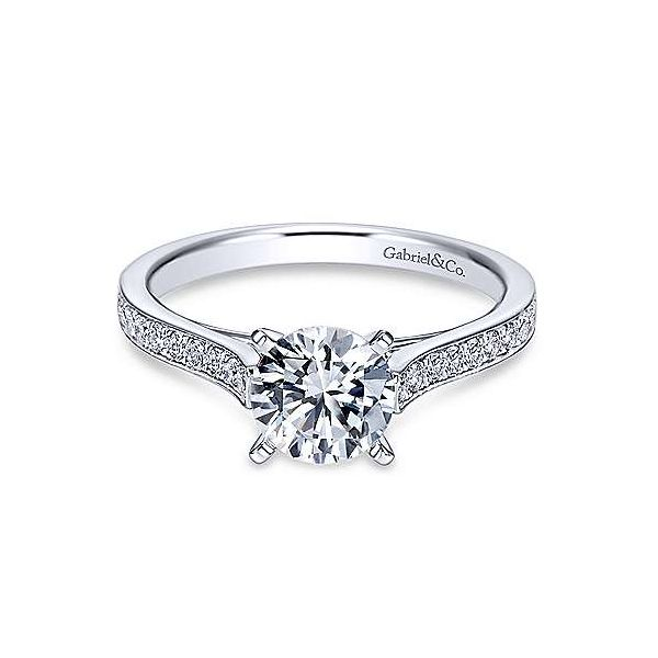 Gabriel & Co. Krista 14K White Gold Engagement Ring SVS Fine Jewelry Oceanside, NY