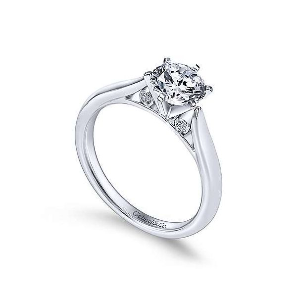 Gabriel & Co. Cassie 14K White Gold Engagement Ring Image 2 SVS Fine Jewelry Oceanside, NY