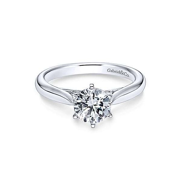 Gabriel & Co. Cassie 14K White Gold Engagement Ring SVS Fine Jewelry Oceanside, NY