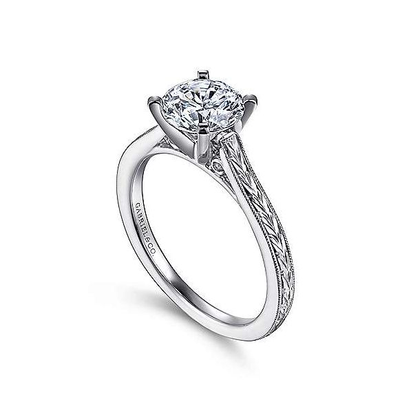 Gabriel & Co. Alma 14K White Gold Engagement Ring Image 2 SVS Fine Jewelry Oceanside, NY