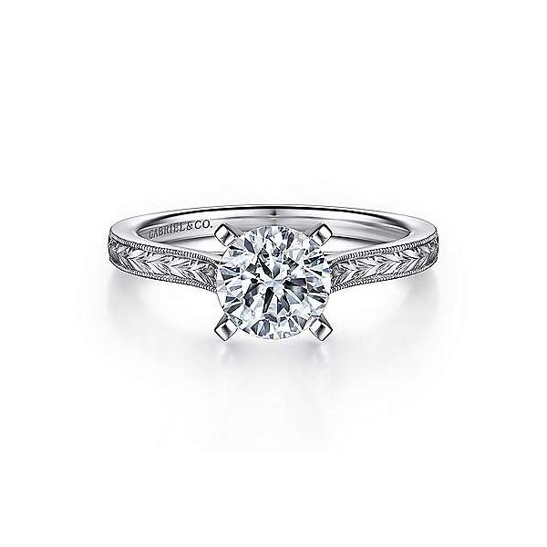 Gabriel & Co. Alma 14K White Gold Engagement Ring SVS Fine Jewelry Oceanside, NY