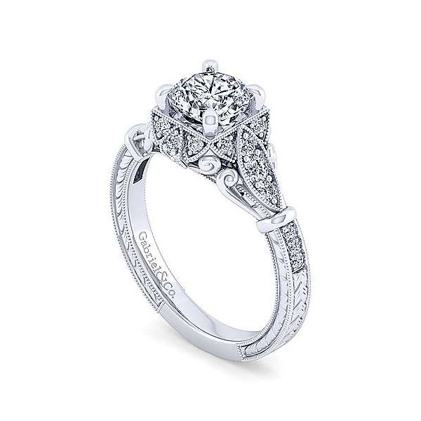Gabriel & Co. Montgomery 14K White Gold Engagement Ring Image 2 SVS Fine Jewelry Oceanside, NY