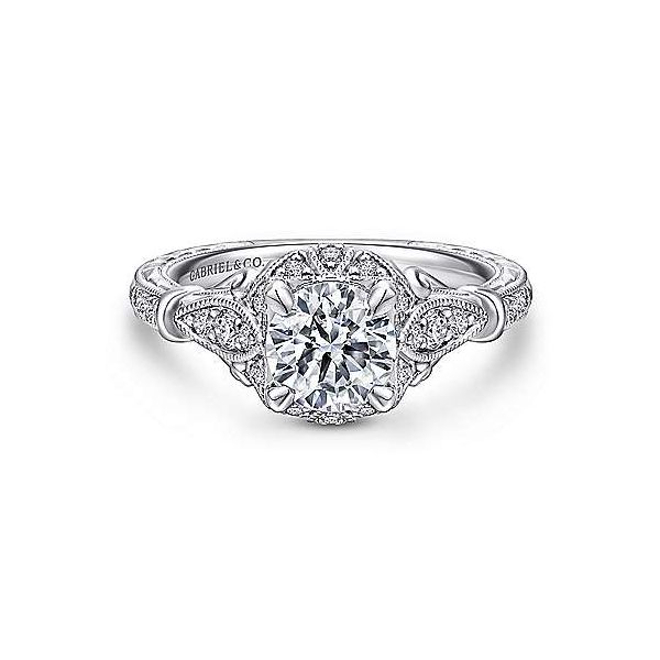 Gabriel & Co. Montgomery 14K White Gold Engagement Ring SVS Fine Jewelry Oceanside, NY