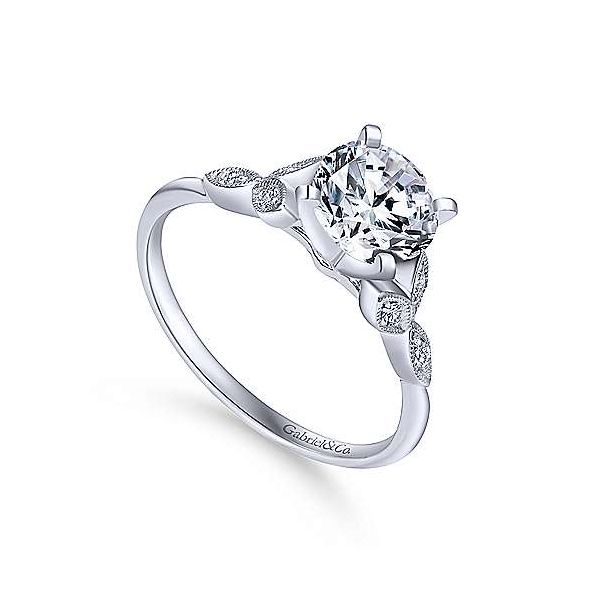 Gabriel & Co. Eliza 14K White Gold Engagement Ring Image 2 SVS Fine Jewelry Oceanside, NY
