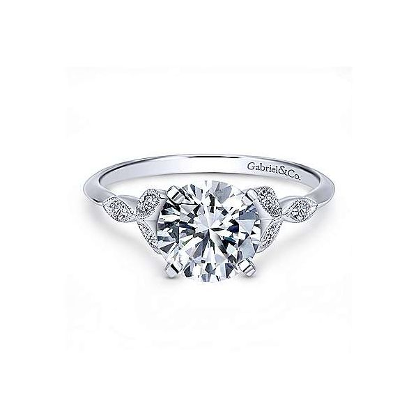 Gabriel & Co. Eliza 14K White Gold Engagement Ring SVS Fine Jewelry Oceanside, NY