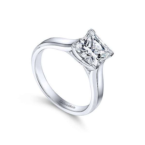 Gabriel & Co. Enid 14K White Gold Engagement Ring Image 2 SVS Fine Jewelry Oceanside, NY