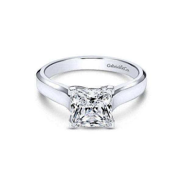 Gabriel & Co. Enid 14K White Gold Engagement Ring SVS Fine Jewelry Oceanside, NY