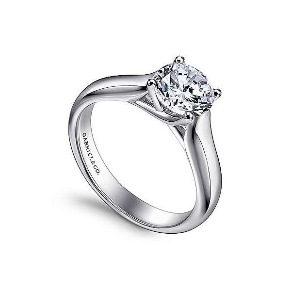Gabriel & Co. Helen 14K White Gold Engagement Ring Image 2 SVS Fine Jewelry Oceanside, NY
