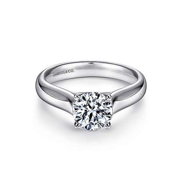 Gabriel & Co. Helen 14K White Gold Engagement Ring SVS Fine Jewelry Oceanside, NY
