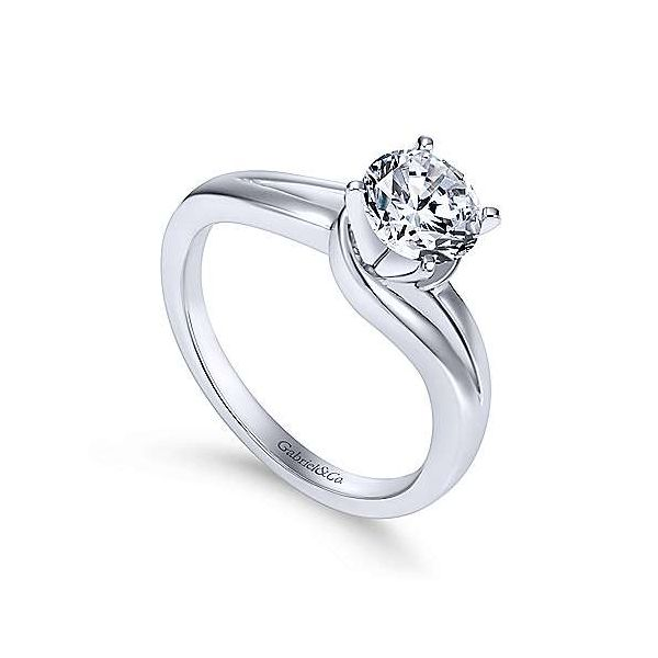 Gabriel & Co. Elise 14K White Gold Engagement Ring Image 2 SVS Fine Jewelry Oceanside, NY