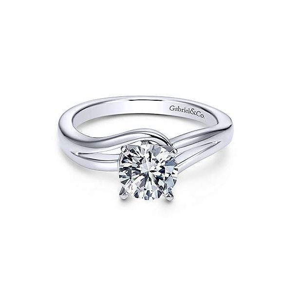 Gabriel & Co. Elise 14K White Gold Engagement Ring SVS Fine Jewelry Oceanside, NY
