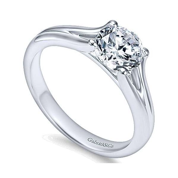 Gabriel & Co. Selah 14K White Gold Engagement Ring Image 2 SVS Fine Jewelry Oceanside, NY