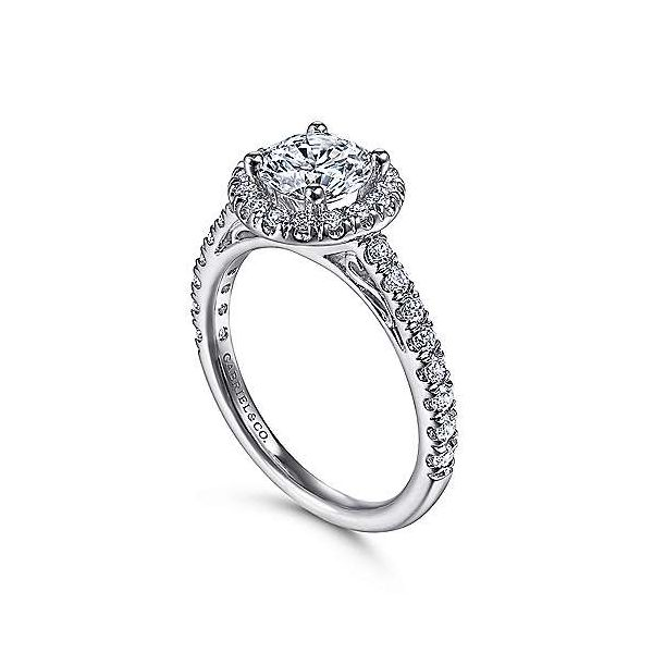 Gabriel & Co. Rachel 14K White Gold Engagement Ring Image 2 SVS Fine Jewelry Oceanside, NY