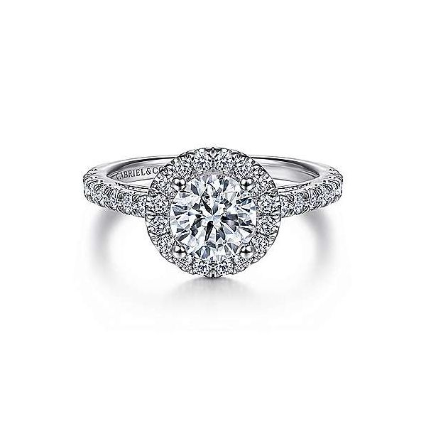 Gabriel & Co. Rachel 14K White Gold Engagement Ring SVS Fine Jewelry Oceanside, NY